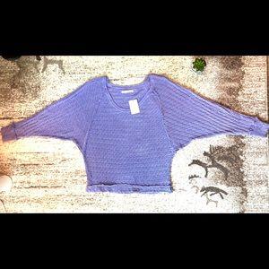 Free People Perwinkle Wide Sleeve Purple Sweater